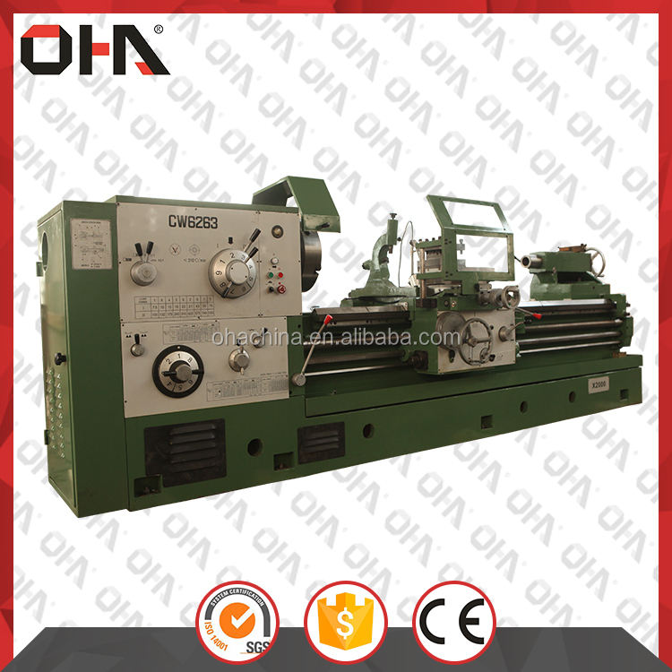 "INTL""OHA "" Brand CW6163A cnc lathe cutting tools, laser lathe, used heavy duty lathe machine"
