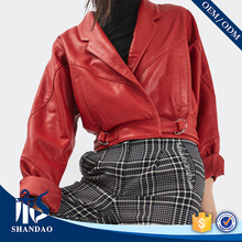 Fashion Design Guangzhou Shandao Cool Style Hooded Long Sleeve Dubai Leather Jacket