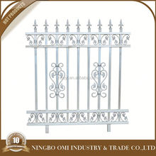 2016 Latest modern black aluminum decorative fence with die cast aluminum parts for aluminum fence/used metal garden fen