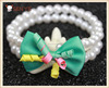 Indian Pet Cute Bow Tie Decorative High Quality Pearl Dog Accessories Collar