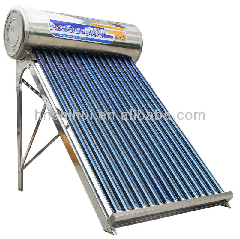 80-380L Integrative pressurized stainless steel solar systems, solar water heater with heat pipe tubes