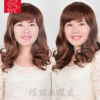 Big curly 180 degree high temperature resistant air bang synthetic hair