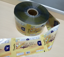 Printed Plastic Film Roll For Food Packaging / Laminating Food Grade Film Roll