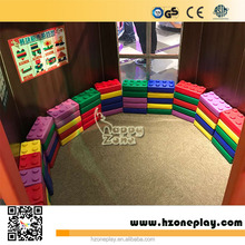CE certified Educational big Plastic Building Blocks Happy Big Blocks for Children Play Corner