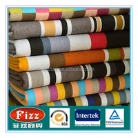 Wholesale 100% Cotton 10*10 thickness printed stripe canvas fabric for bag sofa shoes