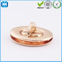 Low price Metal Bag Hardware Turn Lock Twist Lock Oval Shape