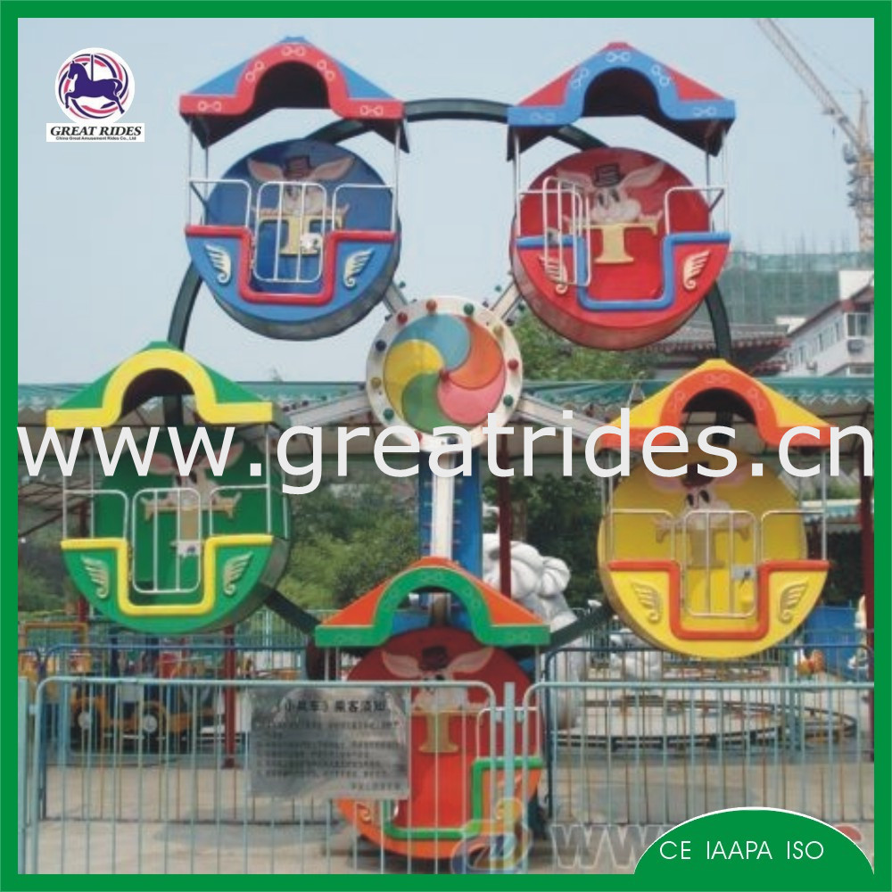 Amusement electric rides trailer mounted small ferris wheel for sale