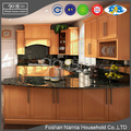 Ninety Degree unique modern design apartment wooden kitchen cabinet