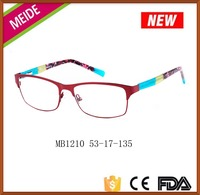 New trend model fashionable ladies spectacles frames stainless steel