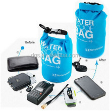 Custom logo 2L waterproof dry bag survival pack outdoor bag