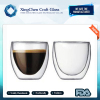 2017 Fashion well design double wall glass coffee cup
