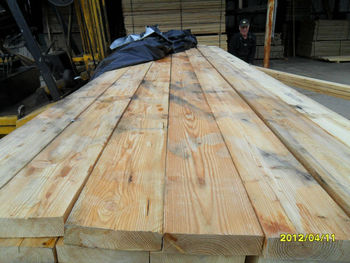 Larch sawn wood