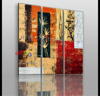 wall art painting canvas handmade home decor classical bamboo oil painting