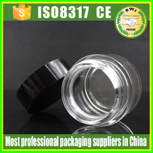 5g Black Lid Clear Cosmetic Empty Jar