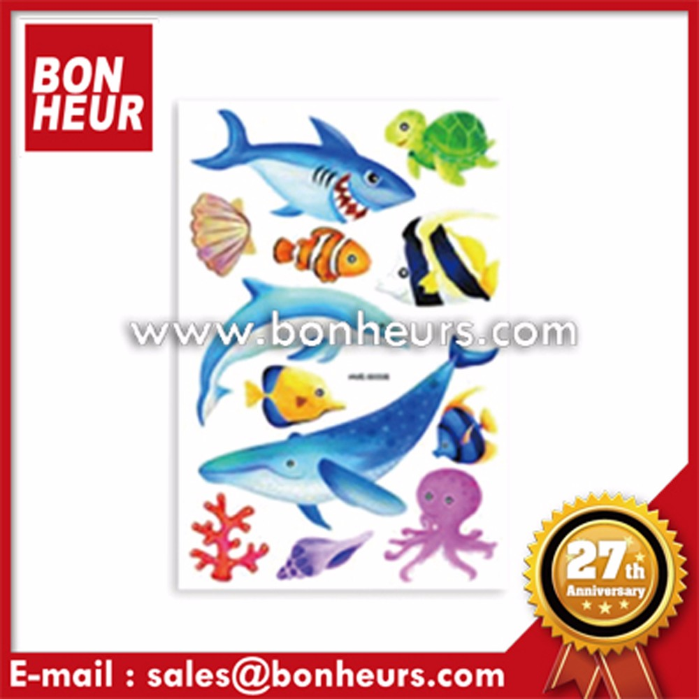 Sea Animal Fish Dolphin Decoration Stiker Handmade Stickers