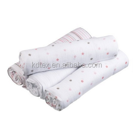 "Muslin Dream Blanket Swaddle Diaper 100% Cotton Super Soft 47x47"" After Washed"