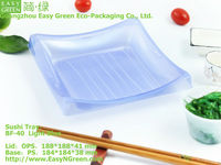Light Blue Sushi Square Plastic Box BF-40
