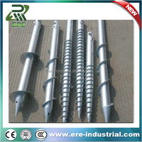 galvanized earth auger anchor for fence