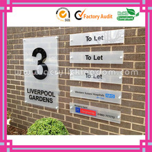 Clear Perspex Acrylic Wall Mounted Sign Holders with Standoffs