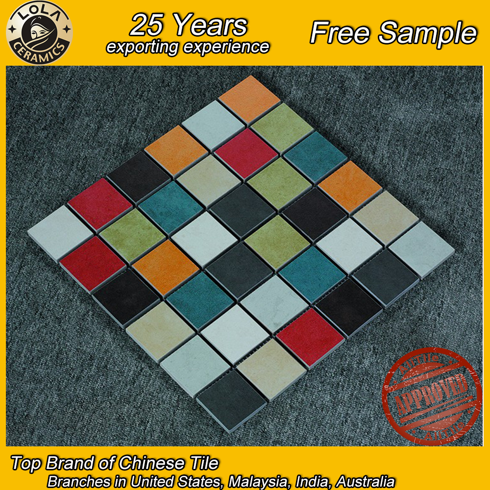 Hot Sale Chip Size Square Shape Ceramic Mosaic Pattern