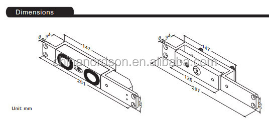 New design shear lock compatible with double swing doors