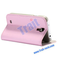 Wallet Case Stand Pouch for Samsung Galaxy S4 / i9500 / i9505 - Lichee Pattern