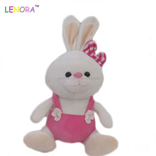 Latest product custom design stuffed plush bunny soft toys with dress T-shirt rabbit for wholesale