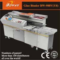 18 Year Boway office school government Graphic shop 7 inch touch screen auto book binding hot melt glue rolling machine