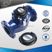 40mm to 200mm flange connection cast iron body turbine type water flow electronic water flow meter