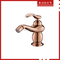 Bidet Tap luxury rose gold finish single handle brass bidet faucet Shower Set
