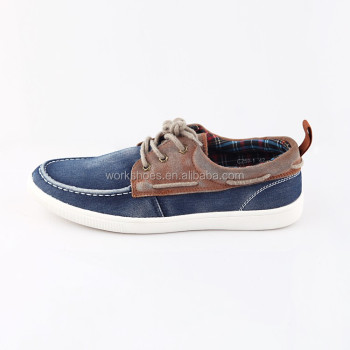 Two Tone Brown And Blue Lace Up Flat Comfortable Men Casual Shoes Running