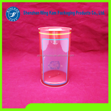 Eco-friendly Display Transparent Packaging Plastic Cylinder Tube Clear Plastic Cylinder Container