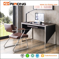 1.2Meter latest leather and stainless steel design computer table