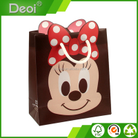custom made OEM factory high-quality pp plastic micky mouse shopping gift bag