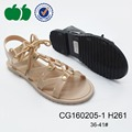 Summer newest style pvc jelly shoe ladies sandals 2016