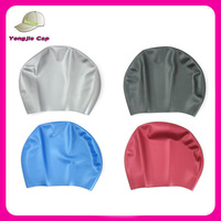 Various shape ladies silicone swim cap for long hair