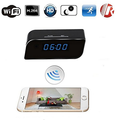 Wi-Fi Hidden Camera Clock Upgraded Wireless Spy Camera Full HD 1080P Motion Detection Activated Alarm App Real-time Video Remote