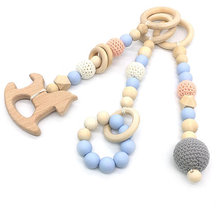 Bpa free silicone dummy Baby teething manufacturer wood baby gym set