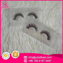 High Quality Super Dense Horse Fur Strip Eyelashes With Plastic Box Case