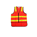 Hi vis safety vest for women with reflective stripes in EN471 Class 2