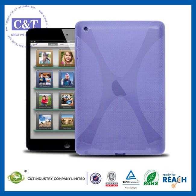 C&T Trendy flexible skin jelly for ipad mini simple design polish tpu soft case
