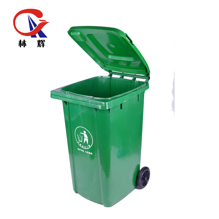 Especially thick 240L sanitation garbage truck supporting dedicated trash bin