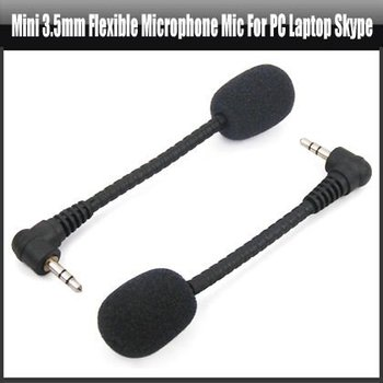 Mini 3.5mm Flexible Microphone Mic for PC Laptop Skype ,YAN310A