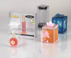 cutting folding clear pvc pet plastic box with handle