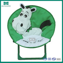 Kids padded metal folding moon chairs for kids
