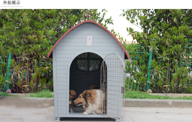 High Quality Outdoor Waterproof Dog Kennel Green Big Size
