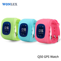 LED+SOS+GPS/ Wonlex Q50 gator child gps tracker / wrist watch gps tracking device for kids-caref watch