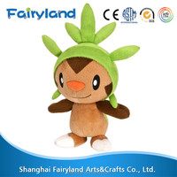 pokemon plush toy sale cute, Chespin with green hat