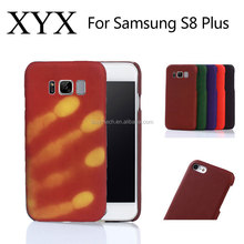 Distinctive popular thermal induction heat sensitive discoloration cell phone color changing case for samsung galaxy s8 Plus