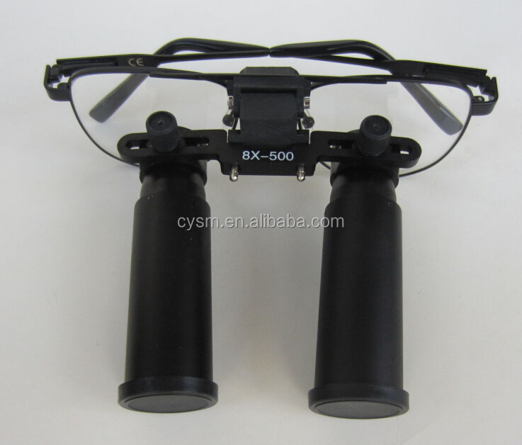 Magnification 8x metal black dental surgical loupes